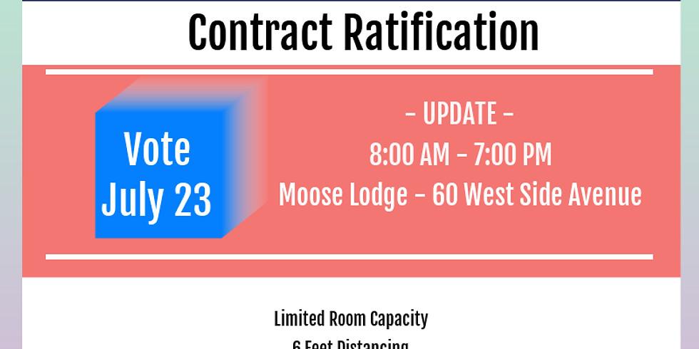 Vote - Contract Ratification