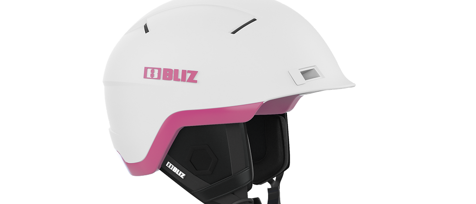 Infinity Snowsport Freeride Helmet - White with Pink - M - 52-54