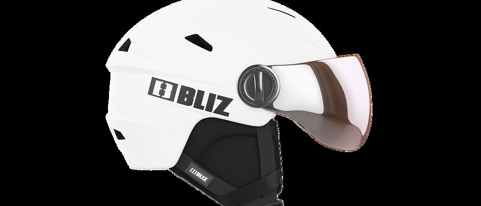 Strike Visor Snowsport Helmet - Matt White - S - 52-55