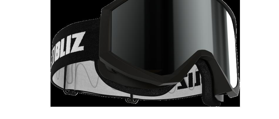 Liner JR - Black w White logo - Brown w silver mirror  - CAT. 3 VLT 12 %