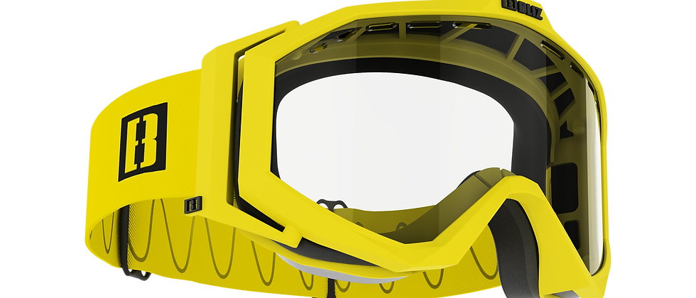Edge Drop bike goggles - Matt Yellow - Clear - Cat. 0 VAT 91 %