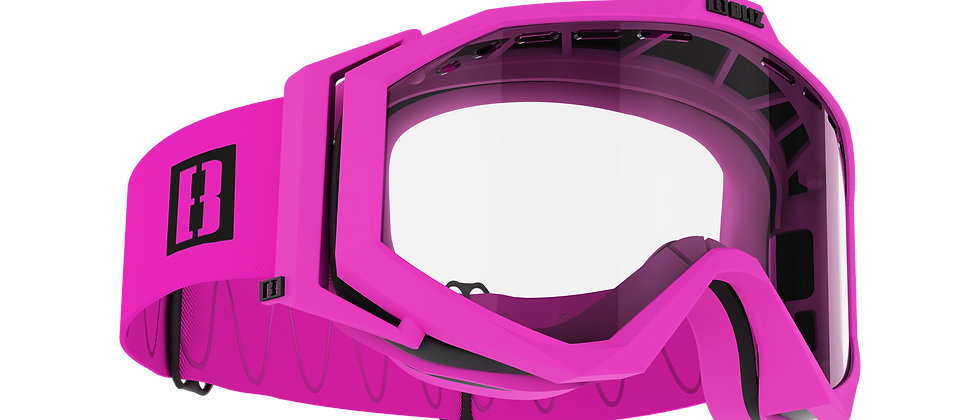 Edge Drop bike goggles - Matt Pink - Clear - Cat. 0 VAT 91 %