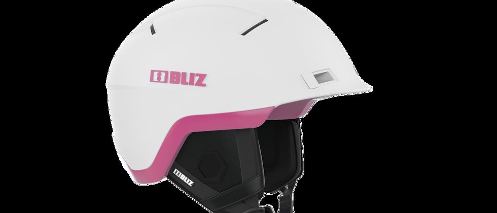 Infinity Snowsport Freeride Helmet - White with Pink - M - 52-54