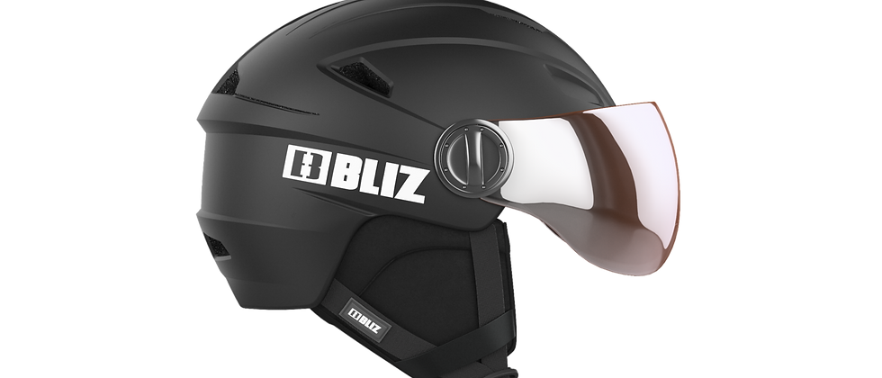 Strike Visor Snowsport Helmet - Matt Black - L - 58-61