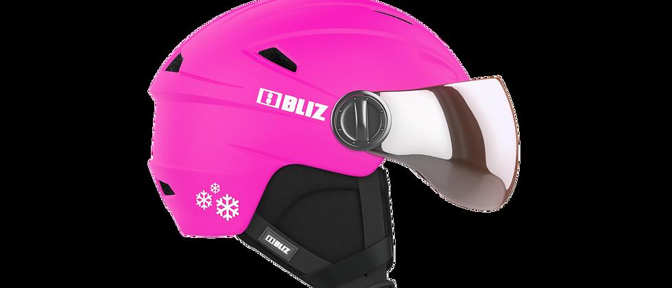 Jet Visor JR. Snowsport Helmet - Matt Pink - XS - 48-52