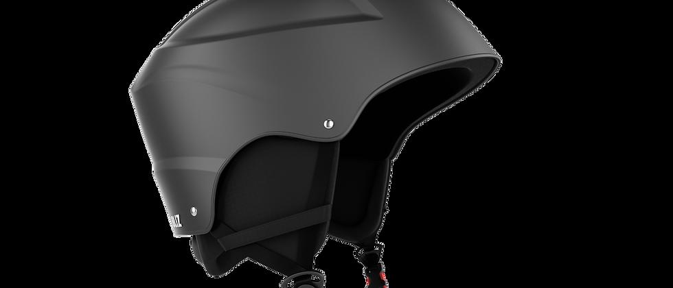 Smash Snowsport JR. Helmet - Black w White logo - XS - 48-52
