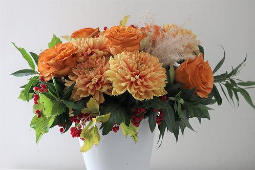 Fall mixed flower arrangement #1