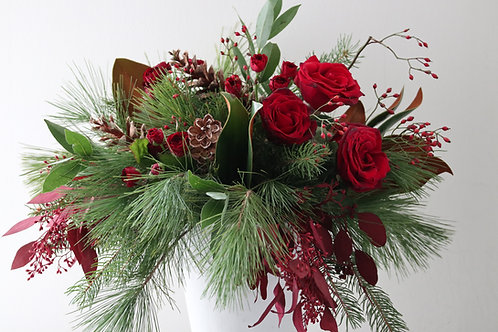 Red Holiday arrangement