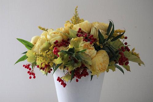 Fall mixed flower arrangement #3
