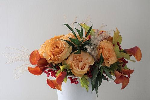 Fall mixed flower arrangement #4