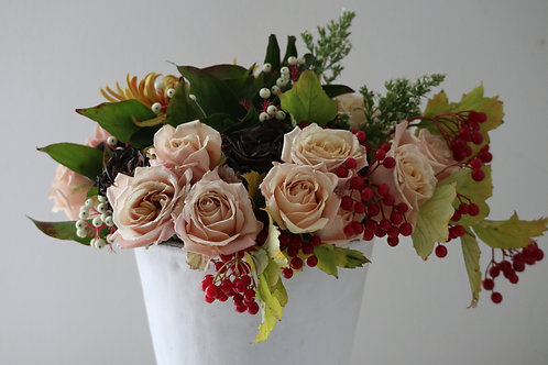 Fall mixed flower arrangement #5