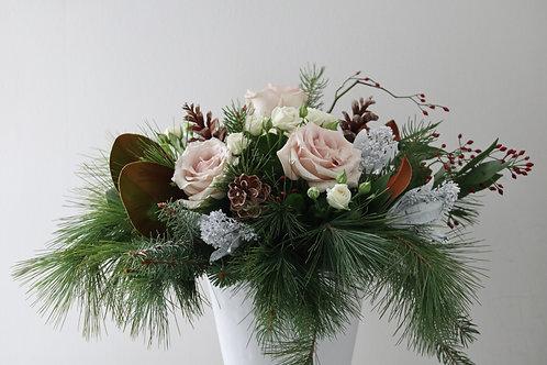 Blush Holiday arrangement