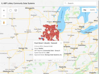 Solar Power World: New map details 807 waitlisted Illinois solar projects