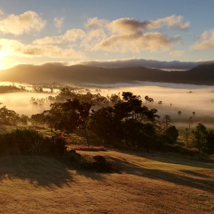 Dawn across the valley