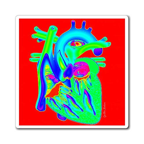 מגנטים - לב פופ - אדום