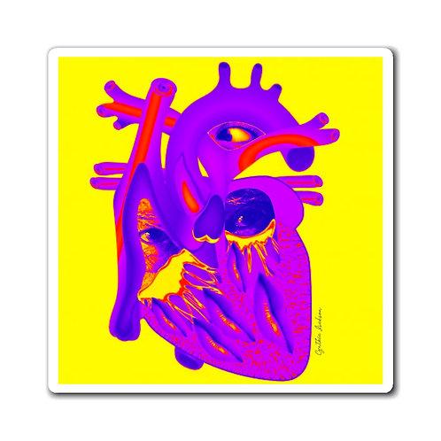 Aimants - Pop Heart - Jaune