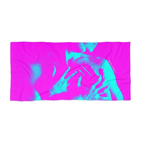 Beach Towel - Pink/blue bodies