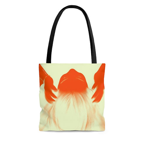 Color Tote Bag - Double sided  - Orange hands