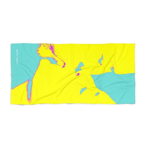 מגבת חוף - נשיקה צהובה