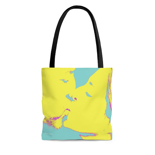 Color Tote Bag - Double sided - Yellow Kiss