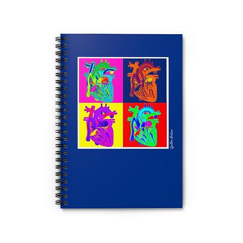 Spiral Notebook - Ruled Line - Pop Heart