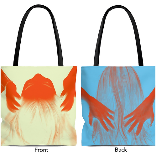 Tote Bag - double sided - Orange hands