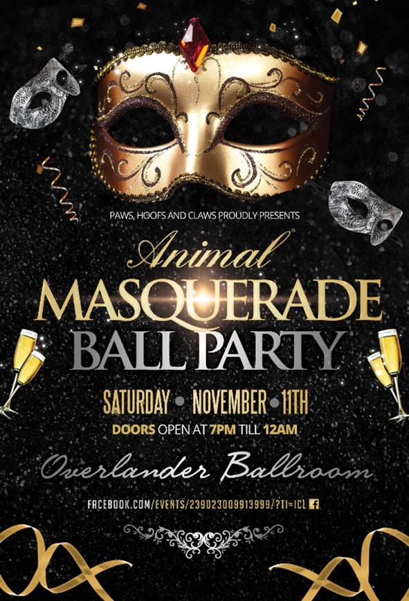 Paws Hoofs Claws Animal Masquerade Ball Party