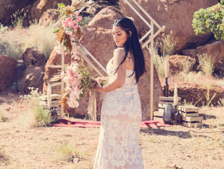 Modern Boho Winter Wedding ~ Styling Inspiration