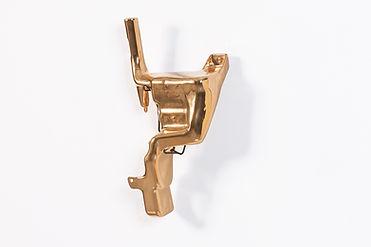 Gold glazed ceramics, 27x55x17 cm, Ed. 3+1 A.P.