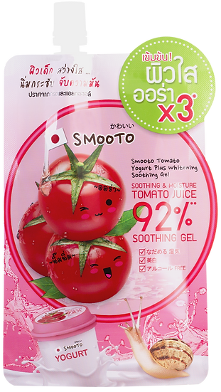 Smooto Tomato Yogurt Plus Whitening Soothing Gel