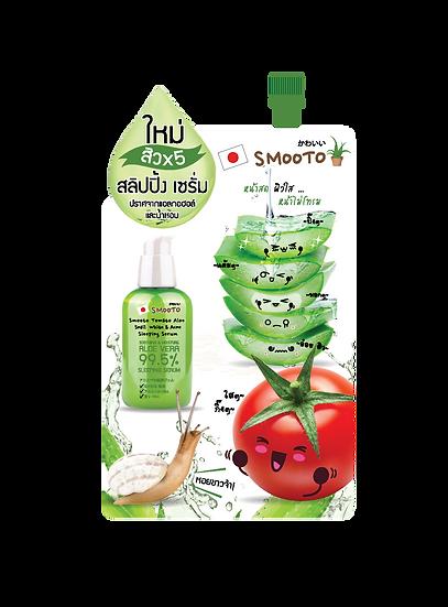 Smooto Tomato Aloe Snail White & Acne Sleeping Serum