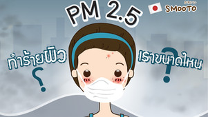 PM 2.5 ทำร้ายผิวของเราขนาดไหน?
