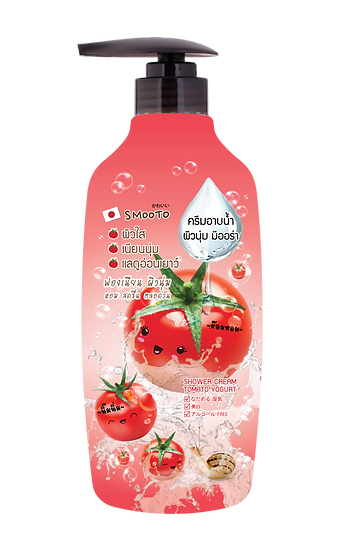 Smooto Tomato Yogurt Whitening Shower Cream