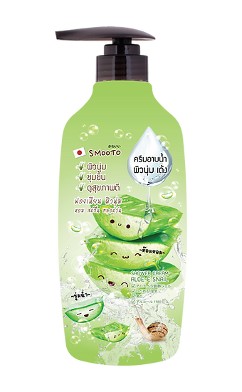Smooto Aloe-E Snail Moisturizing Shower Cream