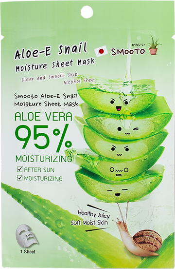Smooto Aloe-E Snail Moisture Sheet Mask