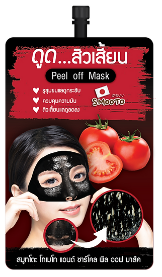 Smooto Tomato & Charcoal Peel off Mask
