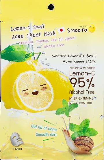 Smooto Lemon-C Snail Acne Sheet Mask
