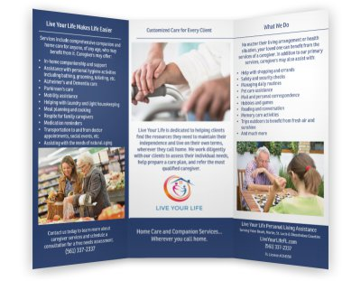 Brochure created for Live Your Life