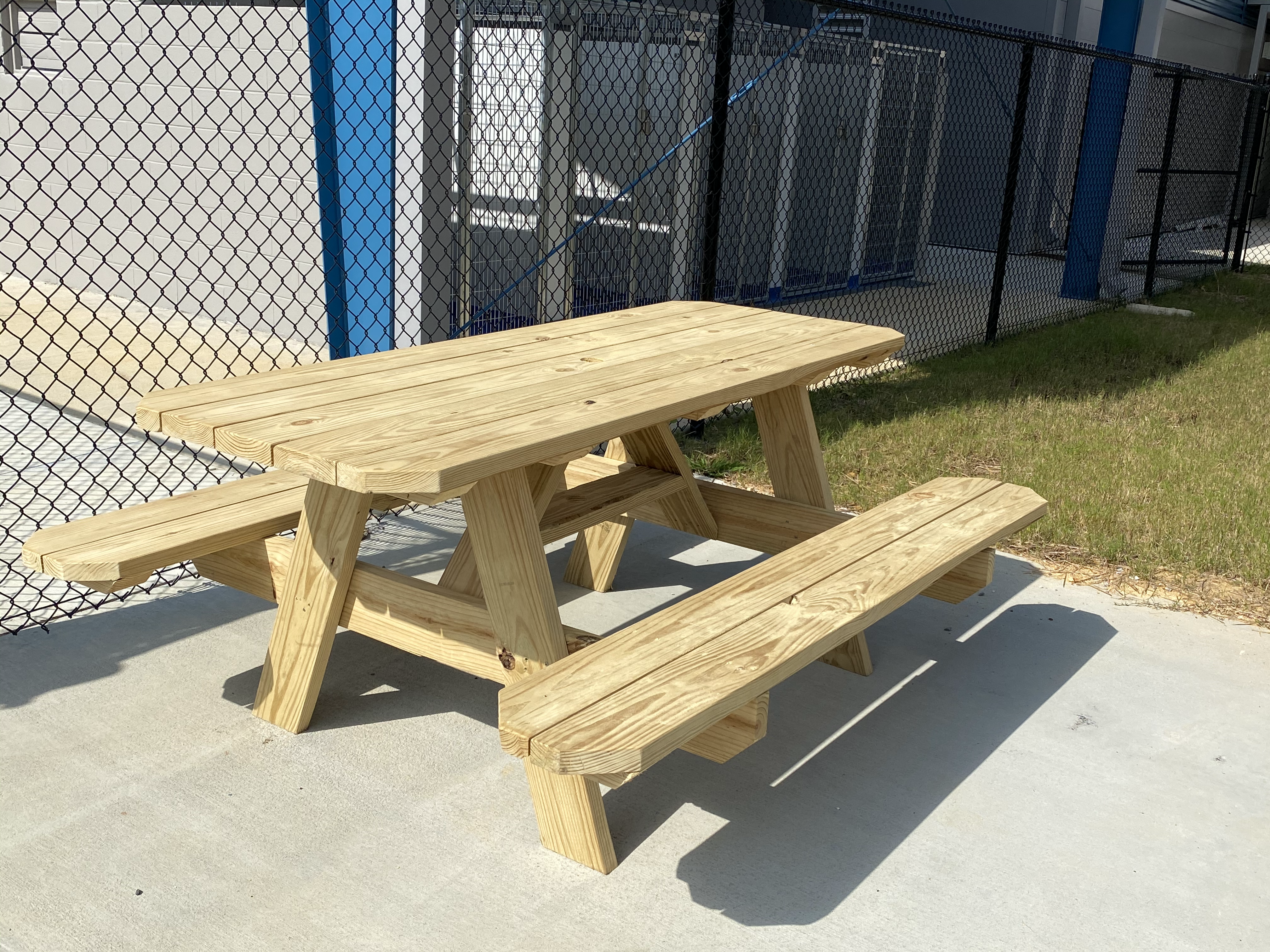 Benches and Tables donated by Lancaster YouthBuild