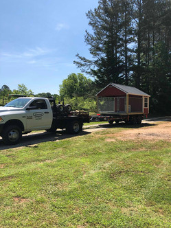 Moving the puppy house into place