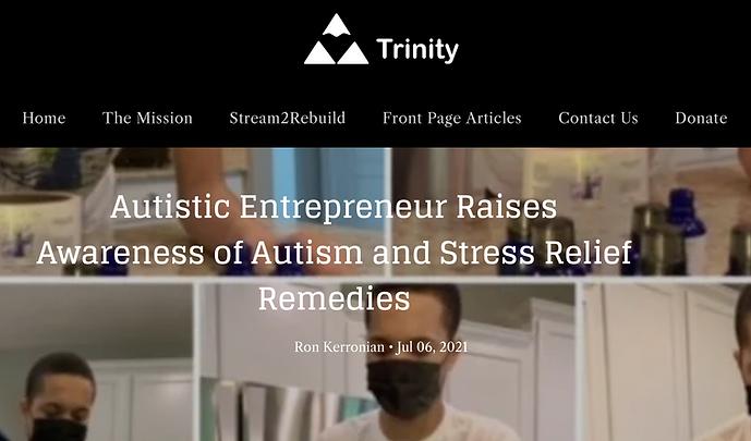 Autistic Entrepreneur Raises Awareness of Autism and Stress Relief Remedies