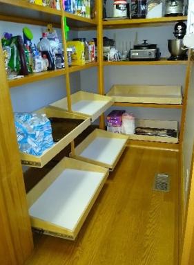 Walk-in Pantry Slide Out Shelves