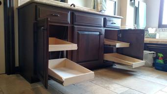 Custom Bathrrom Slide Out Shelves