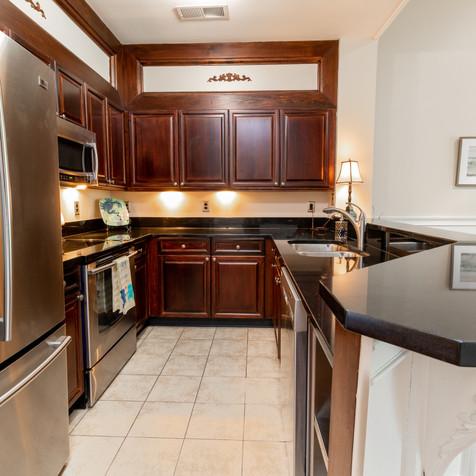 Kitchen post-staged
