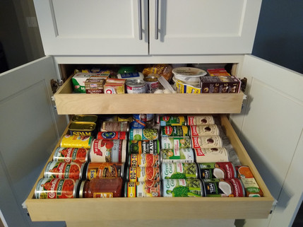 Pantry Slide Outs really maximize your space