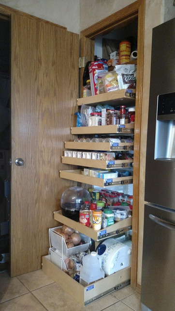 Closet Pantry with Pull Out Shelves