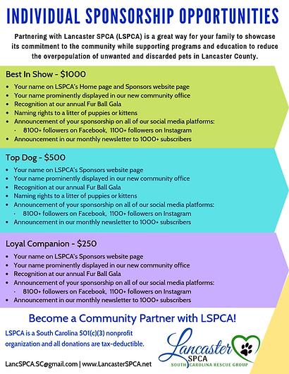 LSPCA Individual Sponsorship Opportunities