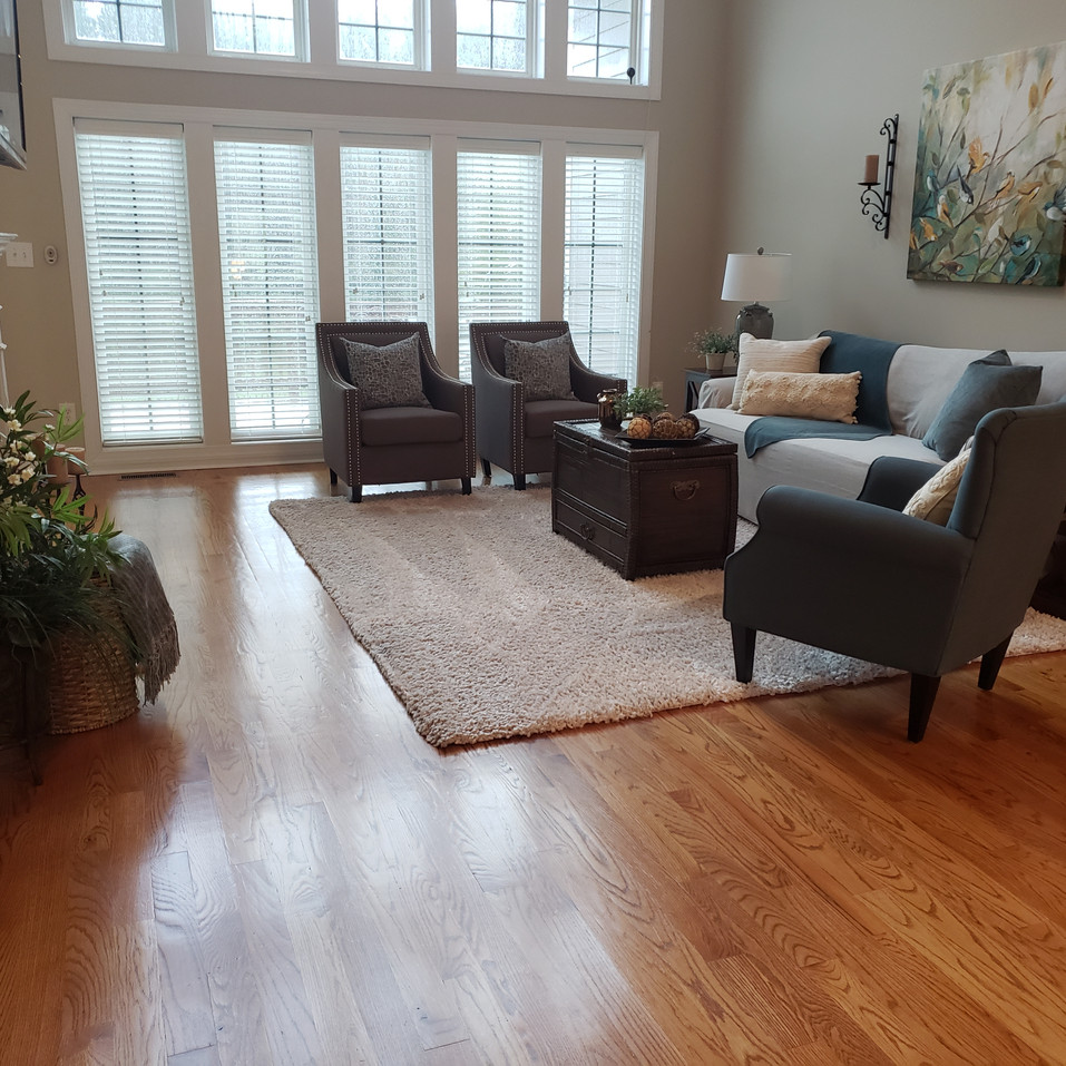 Living Room post-staged