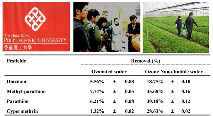 O3 Micro Bubbles – AgriculturalWashing, Hong Kong Polytechnic University - The Whitewater Company