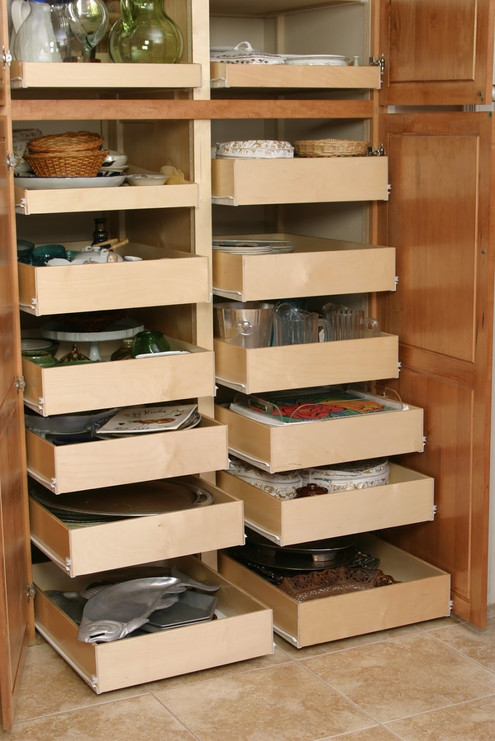 Slide Out Shelves in Pantry